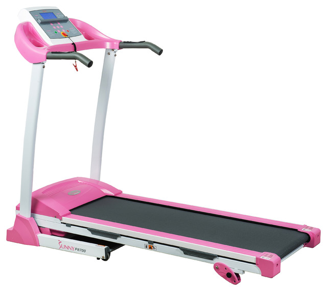 Sunny Health Amp Fitness Pink Treadmill View In Your