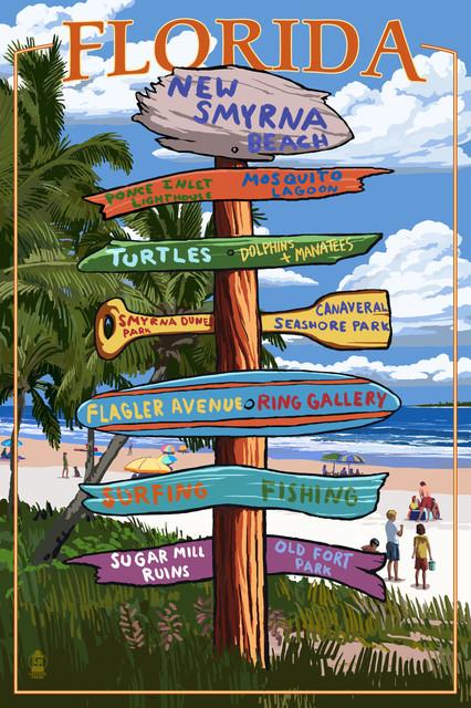 Lantern Press Quot New Smyrna Beach Florida Destinations