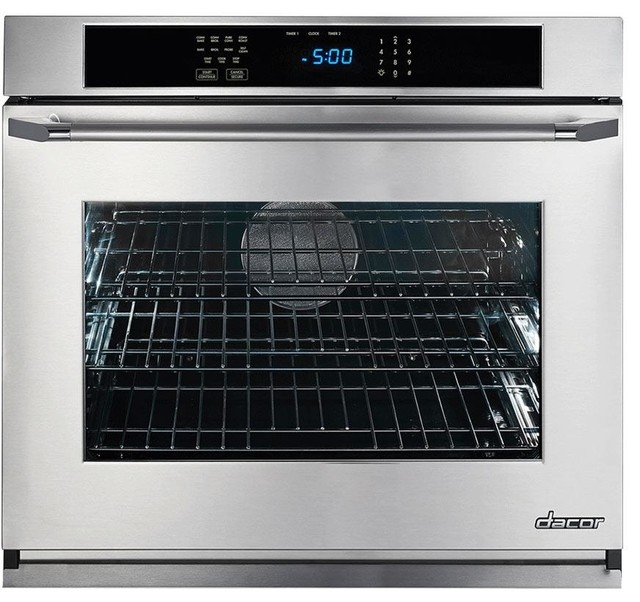 "Dacor Renaissance 30"" 4.8 Cu. Ft. Electric Single Wall Oven, Black Glass."