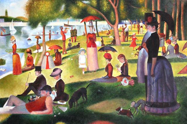 Seurat - Sunday Afternoon on the Island of La Grande Jatte victorian-paintings