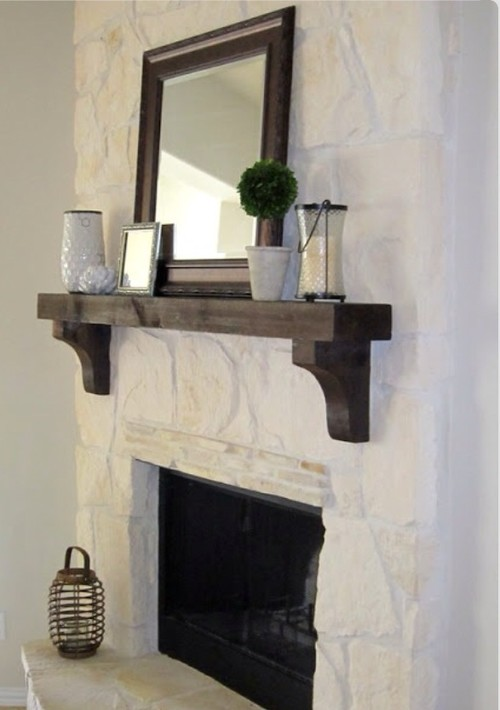 Anyone have experience whitewashing a stone fireplace like this?