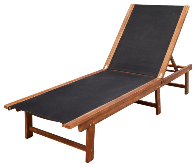 Sun Lounger Acacia Wood.