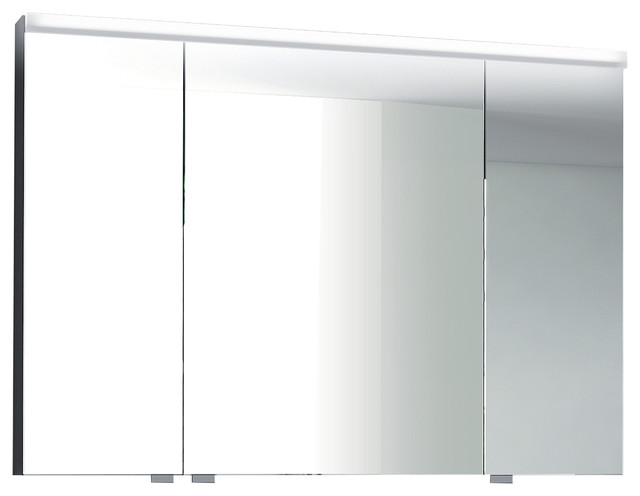 Isa Bagno Iris 3-Door Mirrored Cabinet With Integrated LED Lighting - Modern - Medicine Cabinets ...