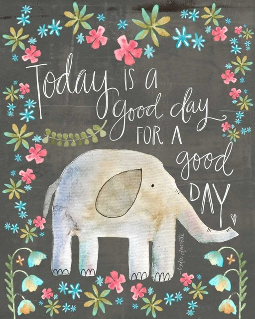 Good Day Elephant Poster Print By Katie Doucette 8 X10 Tropical Prints And Posters By Posterazzi