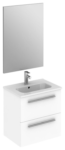 Street Modern Wall Mounted Vanity Set 20 White With Basin And