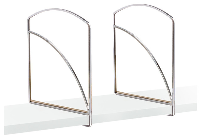 Shelf Dividers, Chrome, Set Of 2.
