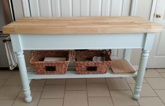 Butcher Block Kitchen Island By White Pine Crafters Traditional Kitchen Islands And Kitchen