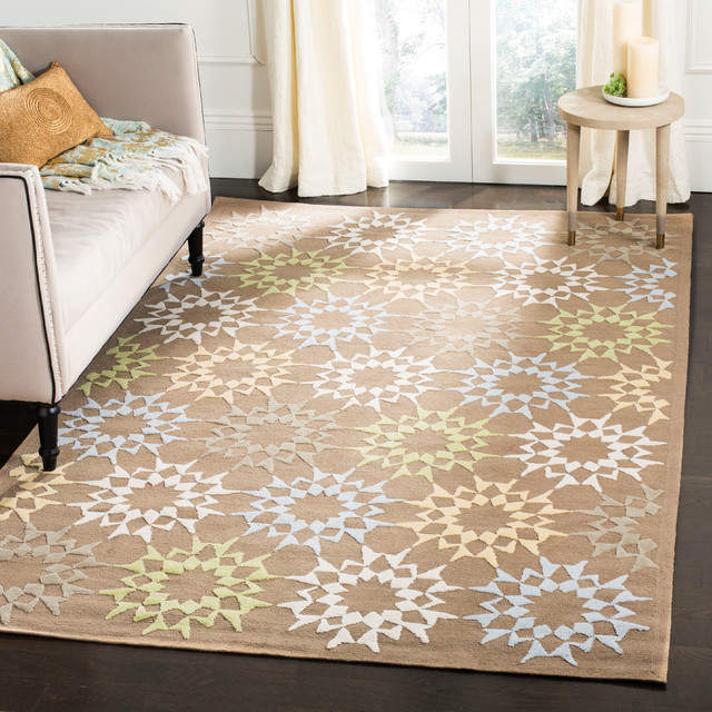 Martha Stewart Quilt Rug Pebble And Gray Contemporary Area Rugs By Eager House Houzz