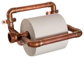 Copper Pipe Toilet Paper Holder - Industrial - Toilet Paper Holders - by Nine & Twenty
