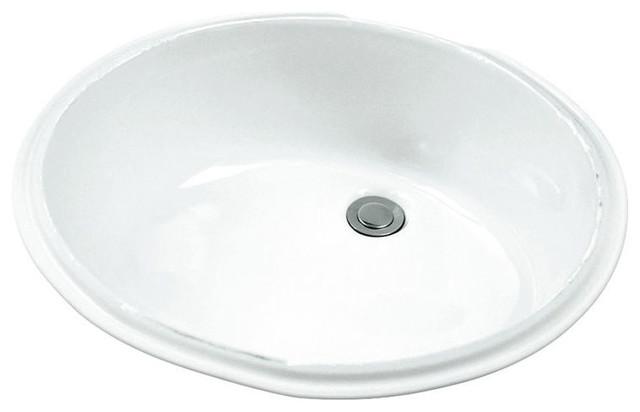 Gerber 12 780 Luxoval Undercounter White Bathroom Sink Transitional Bathroom Sinks By Plumbersstock Houzz