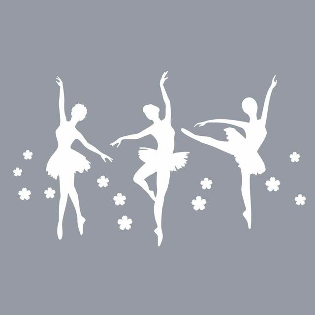 ballerina trio wall decal 16 quot modern wall decals by