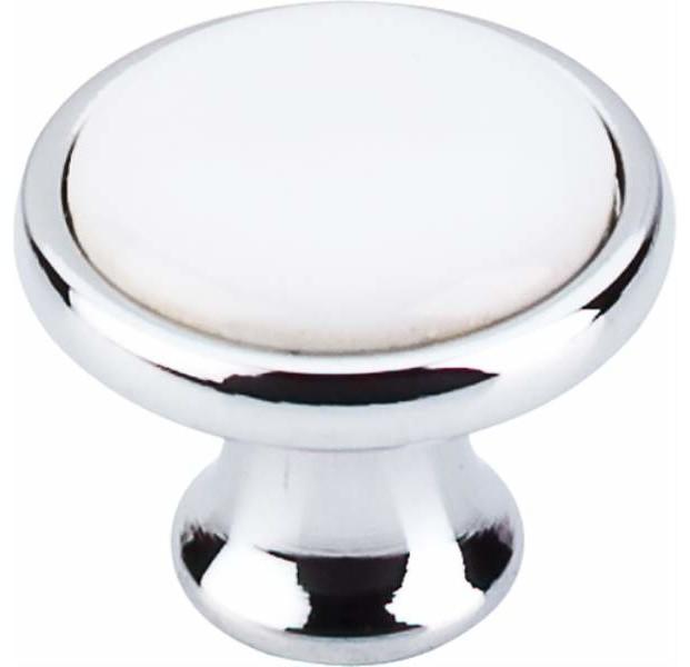 Top Knobs Ceramic Knob 1 1 4 Inch Polished Chrome