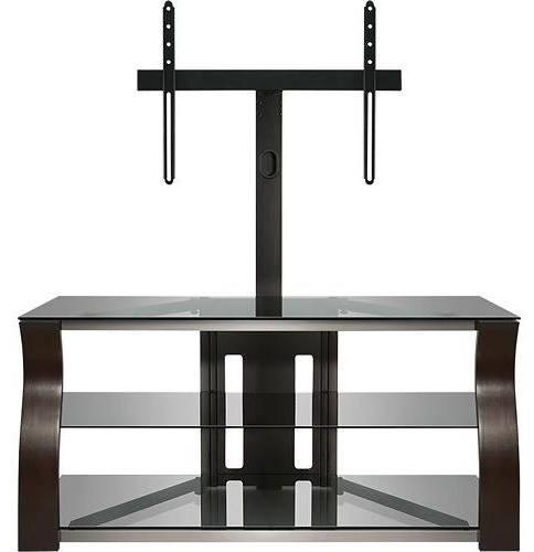 Bell O 50 3 Shelf Tv Stand With Flat Panel Mount Dark Espresso