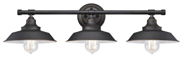 Westinghouse Iron Hill 3-Light Indoor Wall Fixture, Oil Rubbed Bronze.