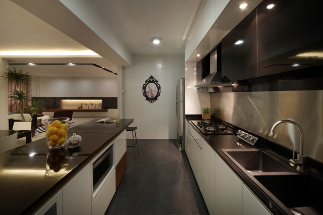 Modern Apartment In Singapore With A Clean Design Modern Kitchen Singapore By