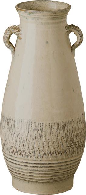 Tall Twig Handle Decorative Urn, Sand Dune