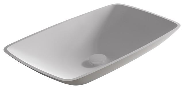 Tesello Vessel Bathroom Sink, Matte, 64 cm