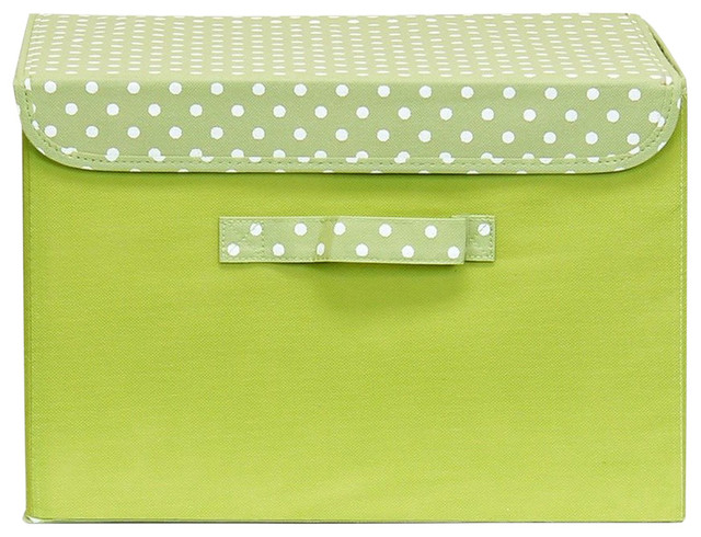 Furinno Nw13203gr Non-Woven Fabric Soft Storage Organizer With Lid, Green.