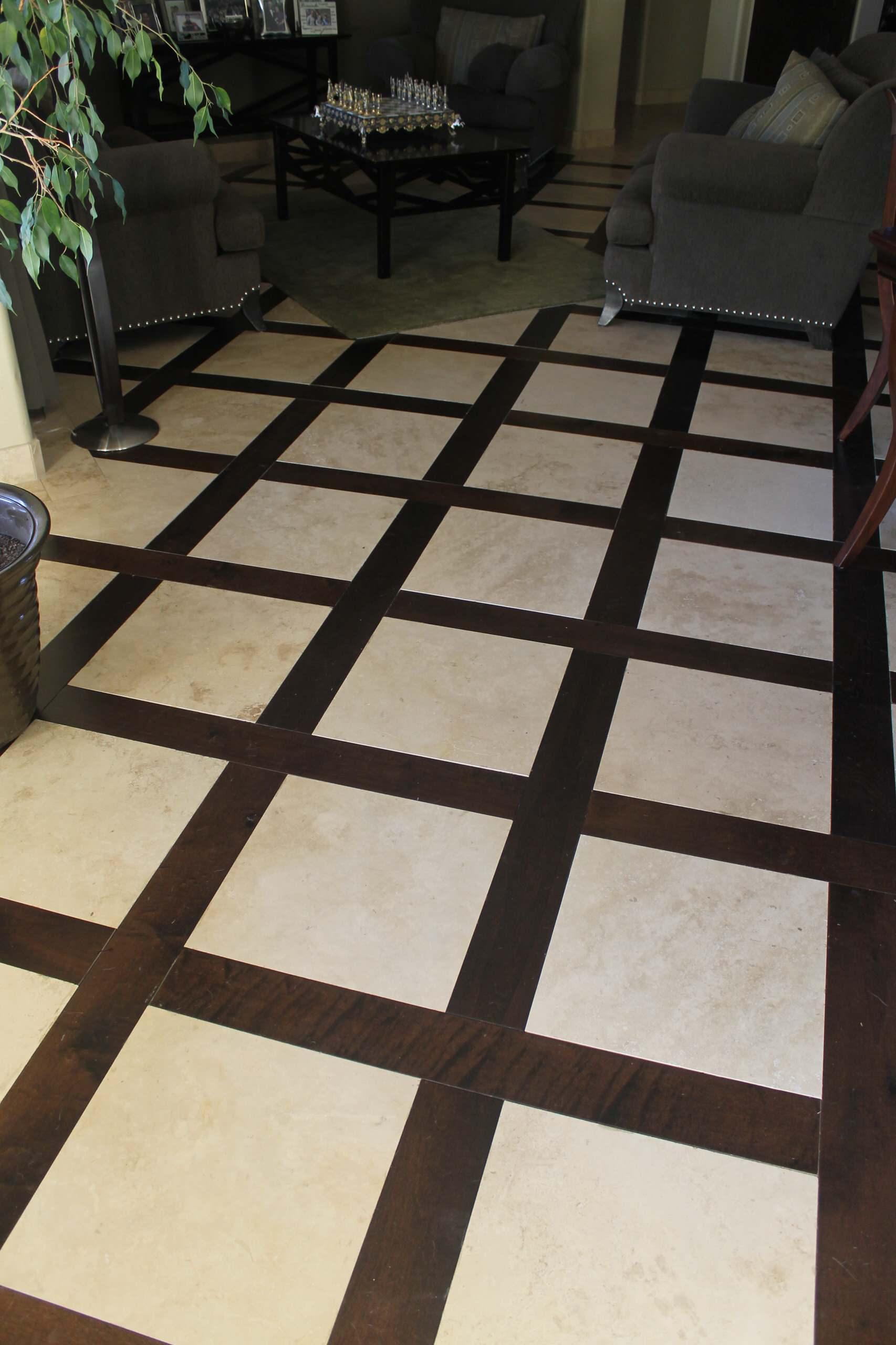 Wood & Travertine Flooring
