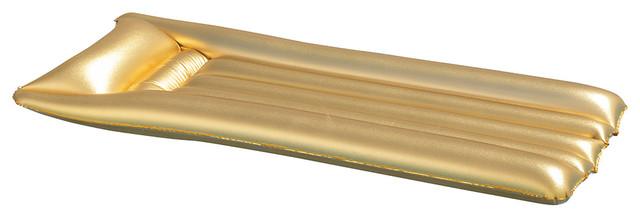 Ove Decors Gold Mattress Pool Float.