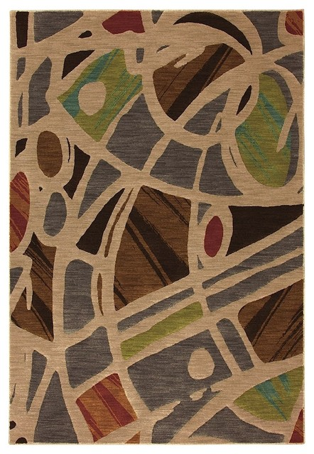 Contemporary artois area rug contemporary hall and for Contemporary runner rugs for hallway