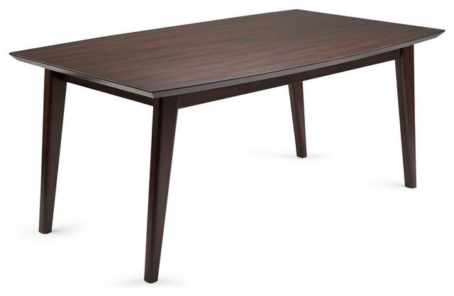 Draper Midcentury Hardwood Rectangular Dining Table