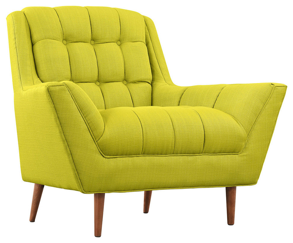Response Upholstered Fabric Armchair, Wheatgrass by Modway