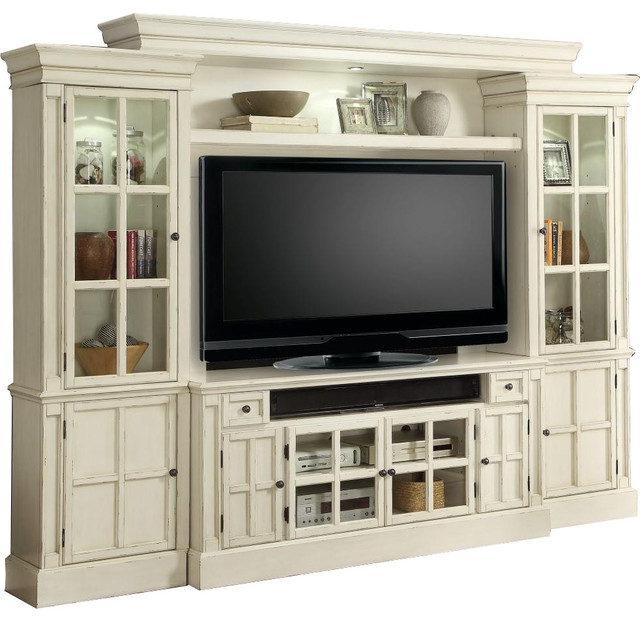 Parker House Charlotte 4 Piece 62 Entertainment Wall In White