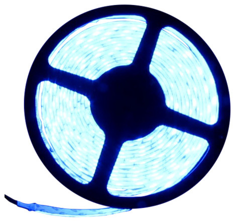 5054SMD Blue Super Bright Flexible LED Light Strip 16' Reel - Contemporary - Undercabinet ...