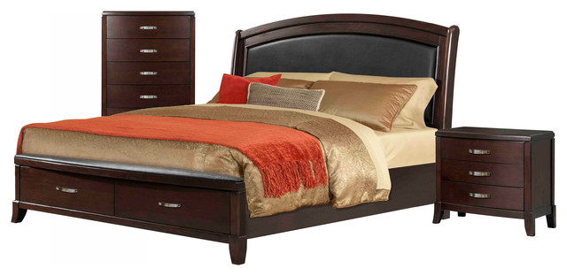 furnishings elaine king 3 piece set bedroom furniture sets houzz