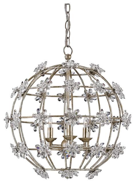 Currey company inc currey company fleur orb silver for Garden room braithwell