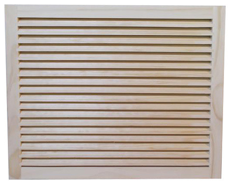 "Wood Return Air Grille, 25""x18"", Standard Square Edge."