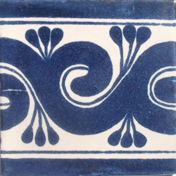 "4""x4"" Mexican Ceramic Handmade Tile C067."