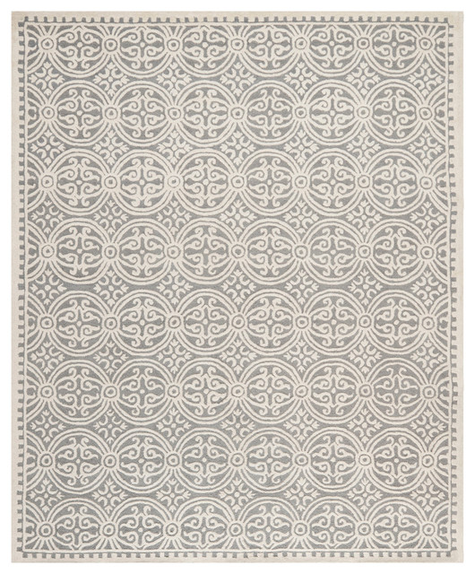 Safavieh Cambridge 2 X3 Hand Tufted Wool Rug Silver And
