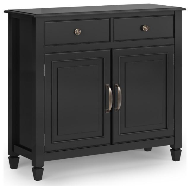 Entryway Storage Cabinet in Black