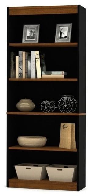 Scranton /& Co 5 Shelf Bookcase in Washed Gray