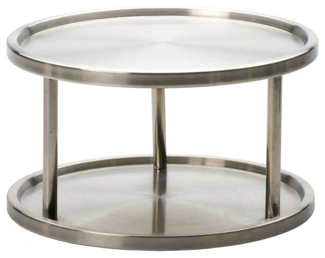 Ordinaire Two Tier Stainless Steel Lazy Susan Turntable