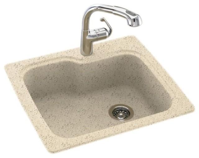 Swan Swan 25x22x9 Solid Surface Kitchen Sink 1 Hole