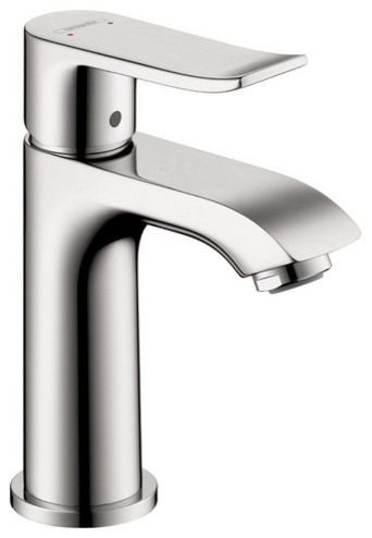 hansgrohe bathroom sink faucets hansgrohe metris 100 single faucet in chrome 18667