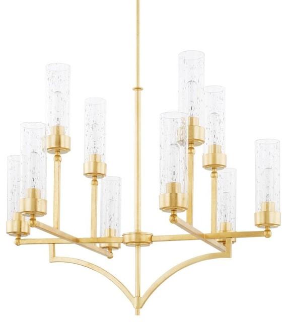 Capital Lighting 419401CG-417 Regan 10 Light Chandelier, Capital Gold
