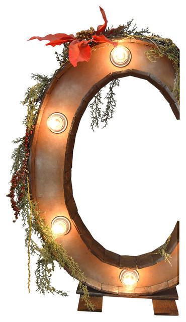 "Illuminated Christmas Letter ""C"""