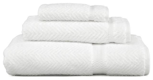 Herringbone 3 Piece Towel Set Contemporary Bath Towels By Linum Home Textiles