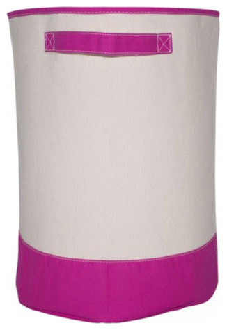 Monogrammed Hamper Pink, Evergreen Thread, Shelly Font, N.