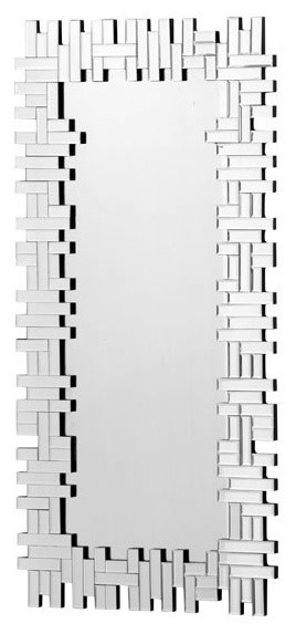 Puzzled Rectangular Mirror, Clear.