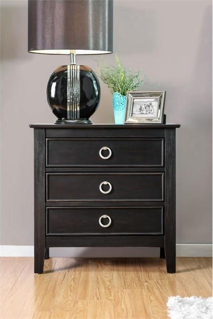 ikea malm 3 drawer nightstand target furniture wire brushed black transitional nightstands unfinished