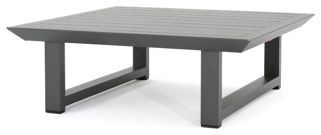 Edward Outdoor Finish Rust Proof Aluminum Coffee Table