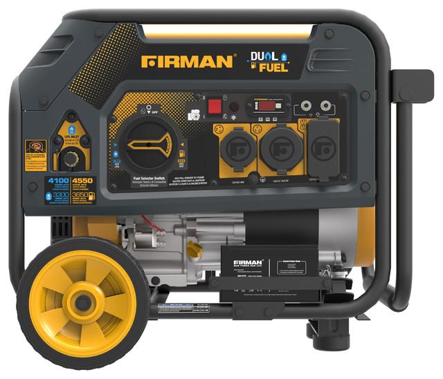 Firman Dual Fuel 4550/3650 Watt Hybrid Series Generator With Electric Start