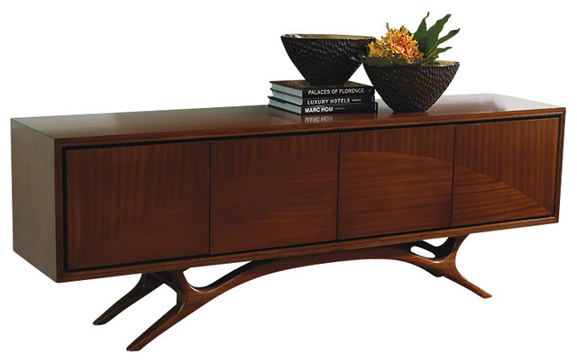 Global Views Swoop Media Cabinet - Contemporary - Media Storage - by Seldens Furniture