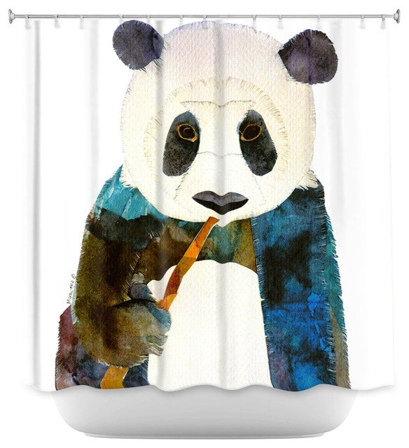 Shower Curtain Unique from DiaNoche Designs - Panda - Asian - Shower ...