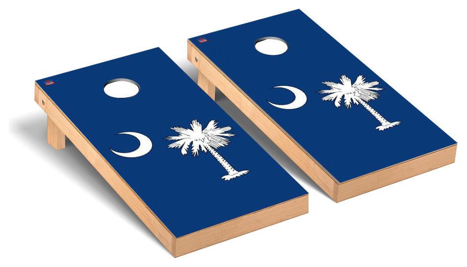 Set of 4/'x2/' South Carolina Flag Cornhole Boards With 8 Cornhole Bags